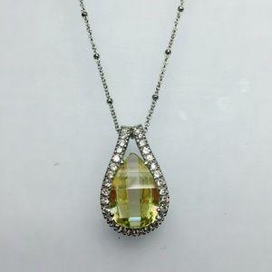 925 Sterling Silver Semiprecious Stone Necklace
